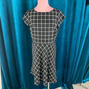 White House Black Market Windowpane Plaid Dress